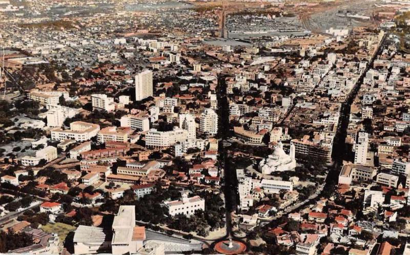 Dakar Senegal Africa Aerial View Tinted Real Photo Antique Postcard J67776