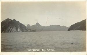 1910-1930 Real Photo Postcard Sea View, Resurrection Bay, Alaska Kenai Peninsula