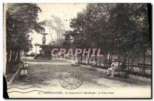 Old Postcard Constantine The square of Repabliqne