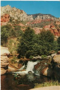 Jumbo Postcard Oak Creek Falls PC5 62