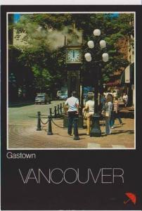 Shoppers on Streets of Gastown, Vancouver, British Columbia, Canada
