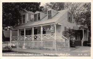 B62/ Key West Florida Fl Real Photo RPPC Postcard 1951 Oldest House Cedar