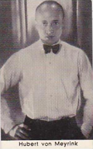 Confreia Cigarette Card Film &  Stage Stars No 89 Hubert von Meyrink