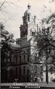 d6/ Ithaca Michigan Mi Real Photo RPPC Postcard c40s County Court House