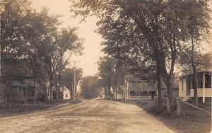 Steep Falls (Standish) ME 27 Main St & Neighbors~Dirt Road`Curve~RPPC c1917 DPO!