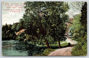 South Bend Indiana~Old Indian Portage~St. Joseph River~c1910 Postcard