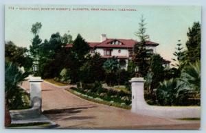 Postcard CA Pasadena Sunnycrest Home of Robert J Burdette c1918 View N12