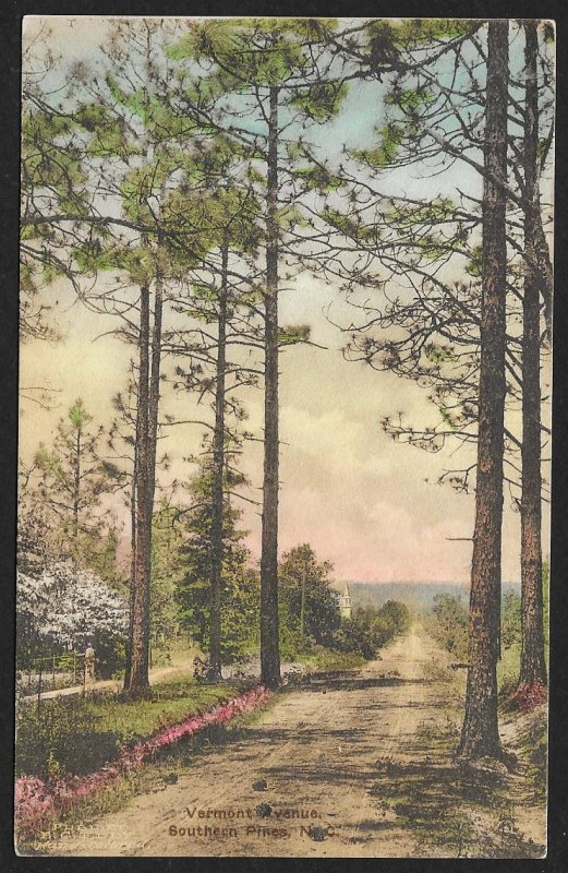 Vermont Avenue Southern Pines North Carolina Used c1923