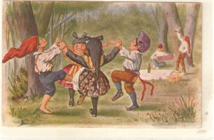 ·J. IBAÑEZ..Catalans. Dancing the Sardana Vintage Spanish postcard