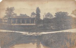 Chicago Illinois~Park Scene~Bridge over Pond~Some of my Work~1908 RPPC