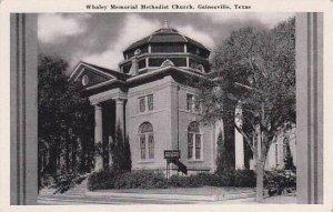 Texas Gainesville Whaley Memorial Methodist Church