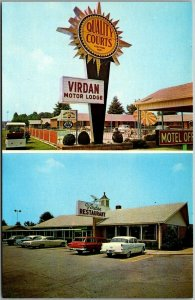 Danville, Virginia Postcard VIRDAY MOTOR LODGE Highway 29 Roadside c1950s Unused