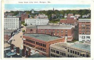 View from City Hall, Bangor, Maine, ME, White Border
