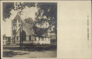 Chadwicks NY St. Georges Church c1905 Real Photo Postcard jrf