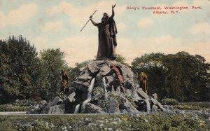 ALBANY, New York, PU-1913; King's Fountain, Washington Park