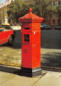 1982 Postal Museum Postcard Victorian Hexagonal Pillar Post Box 1866-79 Bath BW7