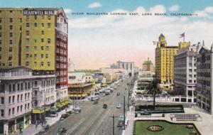 California Long Beach Ocean Boulevard Looking East