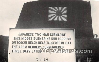 Reproduction - Submarine - Japanese Two Man Submarine Togcha Beach, Guam 1944...
