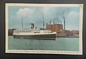 Mint Vintage 1932 St John New Brunswick SS Saint John Atlantic Sugar Refineries