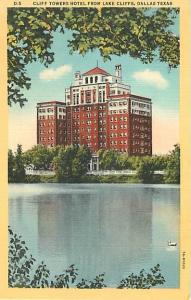 Linen Card of Cliff Towers Hotel Dalles Texas TX