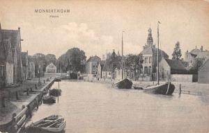 Monnikendam Netherlands Haven Antique Postcard J38859