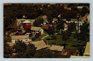 Minden NE- Nebraska, Aerial View Village Green, Pioneer Village, Chrome Postcard