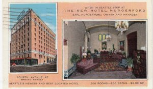 SEATTLE , Washington , 1930-40s ; The New Hotel Hungerford
