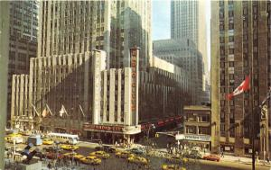 New York City~Radio City Music Hall~Lots of Taxis & Bus on 6th Avenue~1978 Pc