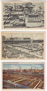 P403 JL old postcard chicago swifts and armour meats and stockyards
