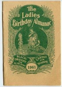 Vintage 1961 The Ladies Birthday Almanac