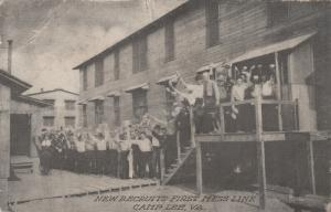 CAMP LEE, Virginia, 1910-20s; New Recruits First Mess Line