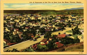 Mesa , Tijuana, Mexico - Panorama Aerial View - POSTCARD - Corner View