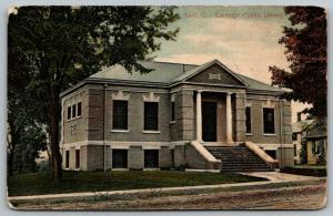 Kent OH~Carnegie Public Library~Free to the People~Doorway Between Columns 1908