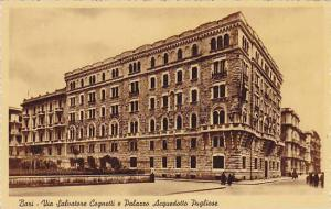 Bari , ITALY, 1910-30ss : Via Salvatore Cognetti e Palazzo Acquedotto Pugliese