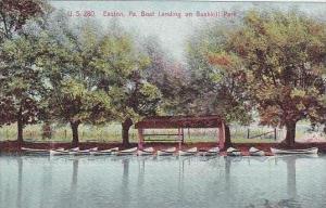 Pennsylvania Easton Boat Landing On Bushkill Park 1908