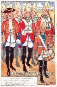 British Grenadiers Artist D Charleton Smyth Unused wear back side right edge