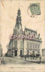 Old Postcard The Sense of City Hall Facade angle