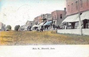 LPS65 RIVERSIDE Iowa Main Street Town View Postcard