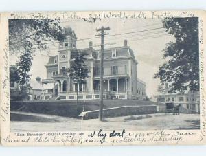 Pre-1907 HOSPITAL Portland Maine ME A3076