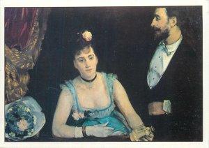 Postcard Une Loge aux Italiens painting by Eva Gonzales