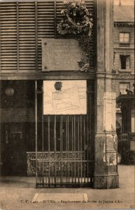 Postcard Rouen France ARC VINTAGE STREET VIEW HOTEL RPPC