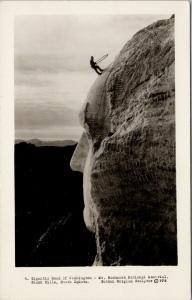 Mt. Rushmore Black Hills SD Gutzon Borglum Sculpture Real Photo Postcard F11