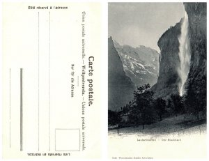 SWITZERLAND Postcard - Lauterbrunnen - Der Staubbach (PC8)