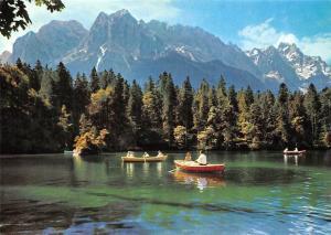 Badersee bei Grainau mit Kleinem und Grossem Waxenstein, Riffelwand Zugspitze
