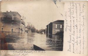 E60/ Manchester Ohio RPPC Postcard 1907 Flood Disaster Mill Memorial Hall