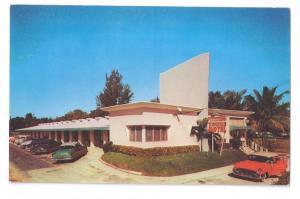 Towne Motel FL Vintage Chrome Postcard 1950's Cars