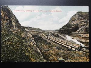 Digging the PANAMA CANAL, Culebra Cut Looking towards Panama Old Postcard