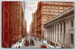 Chicago Illinois~La Salle Street~Illinois Trust & Savings Bank~c1910