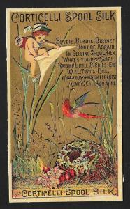 VICTORIAN TRADE CARD Corticelli Silk Thread Fantasy