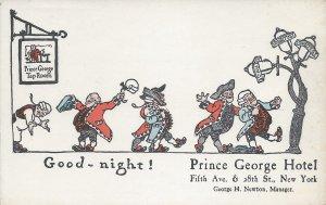 Prince George Tap Room, Prince George Hotel, N.Y.C., Early Postcard, Unused